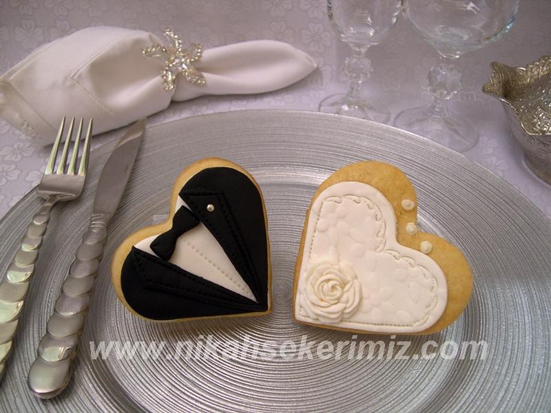 Düğün kurabiyeleri aşk